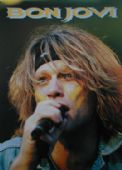 Bon Jovi - 'Jon on Stage Close Up' Postcard